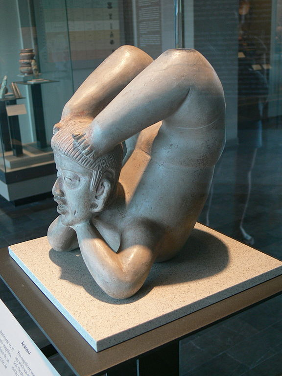 An Acrobat from the early Tlatilco Culture.