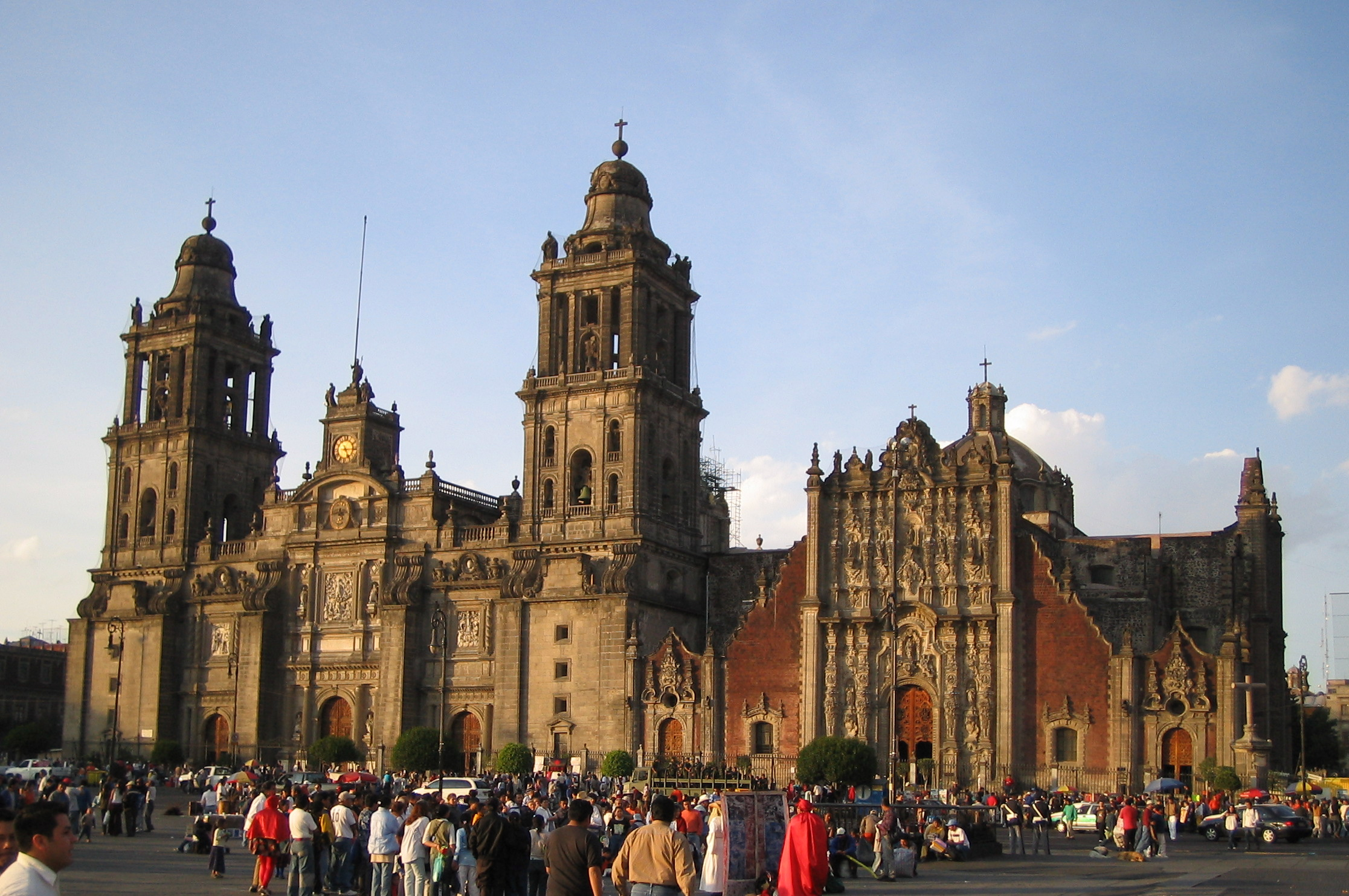 The metropolitan cathedral of Mexico City