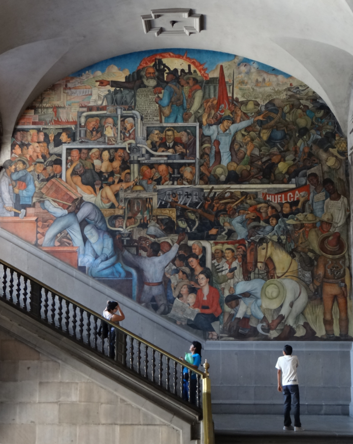 diego rivera history of mexico mural